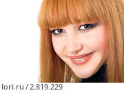 Купить «Портрет улыбающейся девушки», фото № 2819229, снято 7 ноября 2009 г. (c) Сергей Сухоруков / Фотобанк Лори