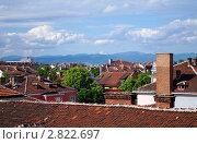 Вид на крыши города София, Болгария (2010 год). Стоковое фото, фотограф Алексей Стоянов / Фотобанк Лори