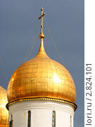 Купола Московского Кремля. Стоковое фото, фотограф Александр Герасименко / Фотобанк Лори
