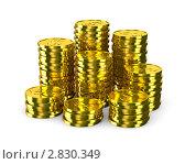 Купить «Монеты на белом фоне», иллюстрация № 2830349 (c) Ильин Сергей / Фотобанк Лори