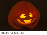 Тыква для Хэллоуина. Стоковое фото, фотограф Юлия Петрова / Фотобанк Лори