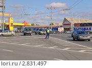 Съезд с проспекта Мира на Рижскую площадь. Москва (2010 год). Редакционное фото, фотограф Алёшина Оксана / Фотобанк Лори