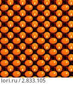 Бесшовный фон с тыквами для Хэллоуина. Стоковая иллюстрация, иллюстратор Виктория Барашева / Фотобанк Лори