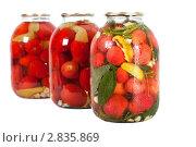 Купить «Консервированные помидоры», фото № 2835869, снято 15 сентября 2011 г. (c) Павел Коновалов / Фотобанк Лори
