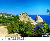 Южная часть Крымского полуострова, морской пейзаж . Украина. (2011 год). Стоковое фото, фотограф Vitas / Фотобанк Лори