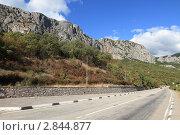 Купить «Крым, трасса Ялта - Севастополь», эксклюзивное фото № 2844877, снято 10 сентября 2011 г. (c) Дмитрий Неумоин / Фотобанк Лори