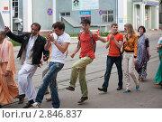 Купить «Красочное песнопение кришнаитов», фото № 2846837, снято 22 мая 2011 г. (c) Igor Lijashkov / Фотобанк Лори