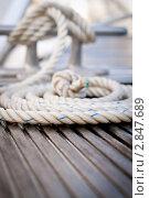 Швартов на яхте. Стоковое фото, фотограф IEVGEN IVANOV / Фотобанк Лори
