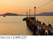 Купить «Причал Нового Света (Крым)», фото № 2849221, снято 27 июля 2011 г. (c) Антон Стариков / Фотобанк Лори