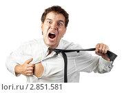 Купить «Портрет кричащего молодого человека», фото № 2851581, снято 17 августа 2011 г. (c) Максим Бондарчук / Фотобанк Лори