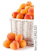 Корзина с абрикосами. Стоковое фото, фотограф IEVGEN IVANOV / Фотобанк Лори