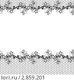 Кружевной бесшовный узор. Рамка. Стоковая иллюстрация, иллюстратор Татьяна Гришина / Фотобанк Лори
