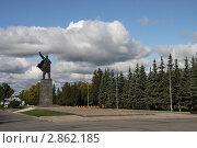 Купить «Памятник В.И. Ленину в Уфе», эксклюзивное фото № 2862185, снято 22 сентября 2011 г. (c) Free Wind / Фотобанк Лори