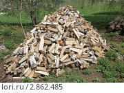 Дрова на траве. Стоковое фото, фотограф Яна Харламова / Фотобанк Лори