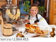 Купить «Чаепитие», фото № 2864453, снято 12 октября 2011 г. (c) Владимир Мельников / Фотобанк Лори