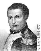 Купить «Наполеон Бонапарт на гравюре 1800 года», иллюстрация № 2868677 (c) Georgios Kollidas / Фотобанк Лори