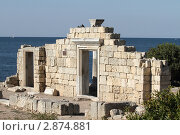 Херсонес, базилика древнего храма, эксклюзивное фото № 2874881, снято 13 сентября 2011 г. (c) Дмитрий Неумоин / Фотобанк Лори