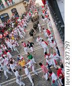 Фестиваль «Сан-Фермин». Памплона. Испания, 2011. Редакционное фото, фотограф Михаил Мандрыгин / Фотобанк Лори