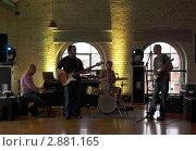 Купить «Ирландская рок-группа исполняет композицию на сцене», фото № 2881165, снято 12 июня 2010 г. (c) Losevsky Pavel / Фотобанк Лори