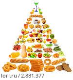 Купить «Пищевая пирамида с большим количеством элементов», фото № 2881377, снято 23 июля 2011 г. (c) Elnur / Фотобанк Лори