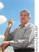 Купить «Портрет пожилого мужчины», фото № 2881597, снято 19 июня 2010 г. (c) Losevsky Pavel / Фотобанк Лори