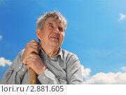 Купить «Портрет пожилого мужчины», фото № 2881605, снято 19 июня 2010 г. (c) Losevsky Pavel / Фотобанк Лори