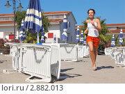 Купить «Девушка бегает на пляже», фото № 2882013, снято 28 июля 2010 г. (c) Losevsky Pavel / Фотобанк Лори