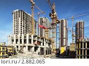 Купить «Строительство  высотных зданий», фото № 2882065, снято 27 сентября 2010 г. (c) Losevsky Pavel / Фотобанк Лори