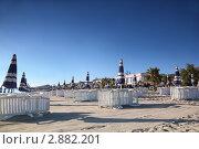 Купить «Пустой песчаный пляж», фото № 2882201, снято 30 июля 2010 г. (c) Losevsky Pavel / Фотобанк Лори