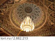 Купить «Люстра в зале соборной мечети в Омане», фото № 2882213, снято 13 апреля 2010 г. (c) Losevsky Pavel / Фотобанк Лори