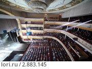 Купить «Аудитория на балконе и в зале Московского театра оперетты», фото № 2883145, снято 7 марта 2010 г. (c) Losevsky Pavel / Фотобанк Лори