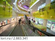 Люди в крупном супермаркете Ашан Тройка, Москва, фото № 2883341, снято 14 февраля 2010 г. (c) Losevsky Pavel / Фотобанк Лори