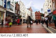 Купить «Люди быстро идут по улице Дублина», фото № 2883401, снято 8 июня 2010 г. (c) Losevsky Pavel / Фотобанк Лори
