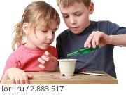 Купить «Дети с интересом занимаются творчеством», фото № 2883517, снято 14 марта 2010 г. (c) Losevsky Pavel / Фотобанк Лори