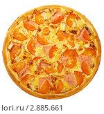 Пицца с ананасами. Стоковое фото, фотограф Сергей Матвеев / Фотобанк Лори