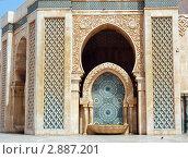 Купить «Мечеть Хассана II в Касабланке, фонтан с изразцами», фото № 2887201, снято 13 августа 2008 г. (c) Владимир Горощенко / Фотобанк Лори