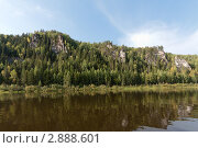 Река Вишера, скала Зобач, Северный Урал (2011 год). Редакционное фото, фотограф Павел Спирин / Фотобанк Лори