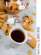 Купить «Чашка чая с выпечкой», фото № 2889909, снято 15 октября 2011 г. (c) Елена Блохина / Фотобанк Лори