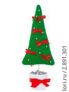 Декоративная  новогодняя елка в горшке. Стоковое фото, фотограф Иван Коваленко / Фотобанк Лори