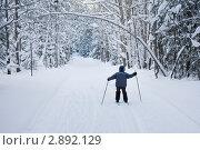 Мальчик на лыжах. Стоковое фото, фотограф Максим Стриганов / Фотобанк Лори