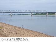 Купить «Автомобильный мост через реку Зея. Амурская область», фото № 2892689, снято 28 июля 2011 г. (c) Кривошеева Светлана / Фотобанк Лори