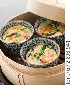Купить «Три порции японского заварного крема в пароварке», фото № 2898941, снято 13 апреля 2007 г. (c) Monkey Business Images / Фотобанк Лори