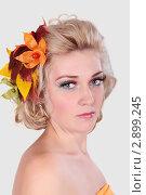 Красивая девушка с ярким макияжем. Стоковое фото, фотограф Верстова Арина / Фотобанк Лори