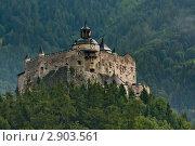Старинный замок Хоэнверфен (Hohenwerfen castle), Австрия. Стоковое фото, фотограф Aleksandrs Jemeļjanovs / Фотобанк Лори