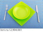 Купить «Пустая тарелка и столовые приборы», фото № 2904061, снято 13 сентября 2011 г. (c) Elnur / Фотобанк Лори