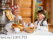 Купить «Чаепитие  в деревне», фото № 2911713, снято 12 октября 2011 г. (c) Владимир Мельников / Фотобанк Лори