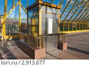 Купить «Москва. Лифт для инвалидов на Пушкинском мосту (бывший Андреевский)», эксклюзивное фото № 2913677, снято 18 октября 2011 г. (c) Lora / Фотобанк Лори