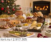 Купить «Рождественский ужин», фото № 2917305, снято 14 декабря 2006 г. (c) Monkey Business Images / Фотобанк Лори