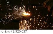Купить «Сварка», видеоролик № 2920037, снято 1 ноября 2011 г. (c) Михаил Коханчиков / Фотобанк Лори