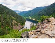 Горное оползневое озеро Амут в Хабаровском крае. Стоковое фото, фотограф Сергей Гусев / Фотобанк Лори